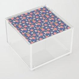 Dancing Florals Acrylic Box