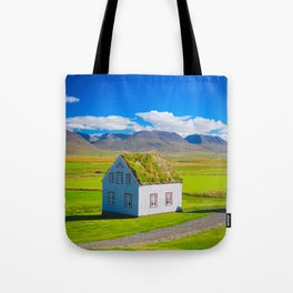 Traditional icelandic timber house Tote Bag