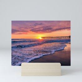 Sunset & Foamy Wave Mini Art Print