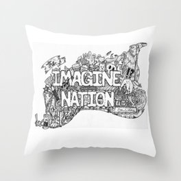 The Imagine Nation Throw Pillow