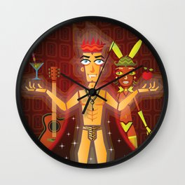 Hedonist Wall Clock
