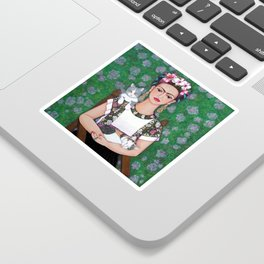 Frida cat lover Sticker