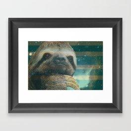 Ragin' like sloth!  Framed Art Print