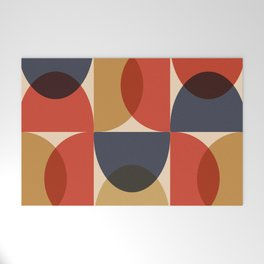 Mid Century pattern design 6 Welcome Mat