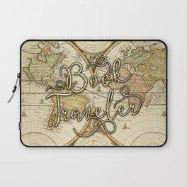 Book Traveler Vintage Map v2 Laptop Sleeve