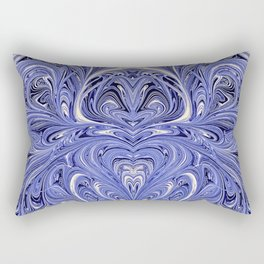Mirror Blue Oil Gestalt Abstract II Rectangular Pillow
