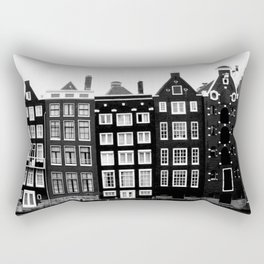 The canal houses of Amsterdam Rectangular Pillow