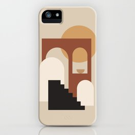 HOME - abstract minimalist art iPhone Case