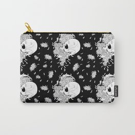 Pushing Up Daisies Black Pattern Carry-All Pouch