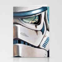 stormtrooper Stationery Cards featuring Stormtrooper by Mel Hampson