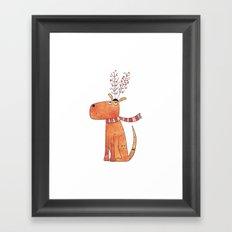 The Antler Hat Framed Art Print