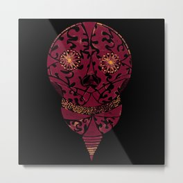 Mexican Lightbulb black Metal Print
