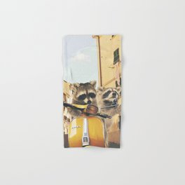 Raccoons on the road trip Hand & Bath Towel