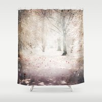 narnia Shower Curtains featuring Words Unspoken by Jenndalyn