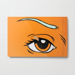 Eye orange 4 Metal Print