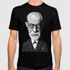 Sigmund Freud Mens Fitted Tee Black MEDIUM