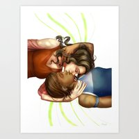 korrasami Art Prints featuring Korrasami by laya rose