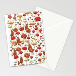 Cute Mushrooms pattern. Stationery Cards