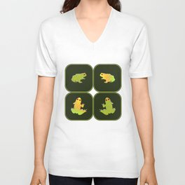 Four frogs Unisex V-Neck