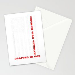Vietnam War Veteran Drafted In  T Shirt Stationery Cards