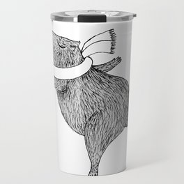 CAPYBARA ENJOYS WINTER Travel Mug
