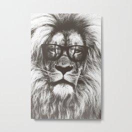 Lion in glasses Metal Print