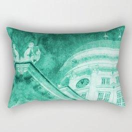 Vintage Helsinki Teal Rectangular Pillow