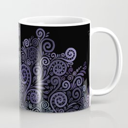 3d Psychedelic Violet and Teal Coffee Mug