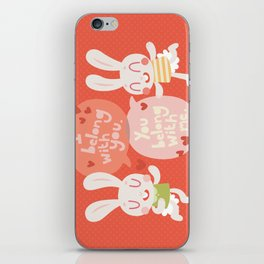 'I belong with you' Bunny Valentines Day Card iPhone Skin