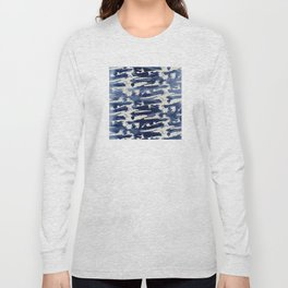 Contemporary Abstract: Blue Splashes of Paint Long Sleeve T-shirt