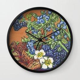 Berries 1 Wall Clock