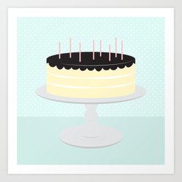 Cream Cake // Creamsicle + Aqua Art Print