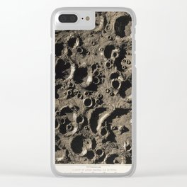 James Nasmyth - A Group of Lunar Craters Southeast of Tycho (1863) Clear iPhone Case