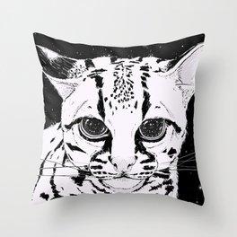Leopardus Pardalis Throw Pillow