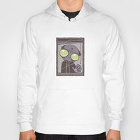 the office Hoodies featuring Office Zombie by John Schwegel