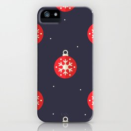 Red Christmas Ornament Pattern iPhone Case
