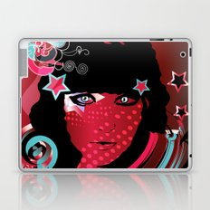 retro girl Laptop & iPad Skin