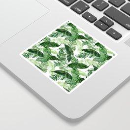 Green leaf watercolor pattern Sticker