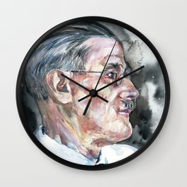 JAMES JOYCE - watercolor portrait Wall Clock