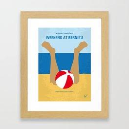 No765 My Weekend at Bernies minimal movie poster Framed Art Print