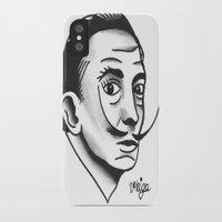 dali iPhone & iPod Cases featuring Dali by @VEIGATATTOOER