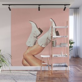 These Boots - Pink Wall Mural