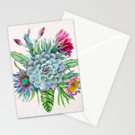 Exotic flower garden Stationery Cards