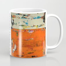 Roadrunner Bright Orange Abstract Colorful Art Painting Mug