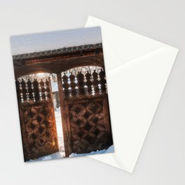 Enter the gate into the winter season! Stationery Cards