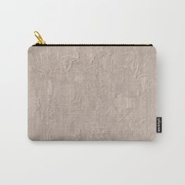 Beige Plastering Texture Carry-All Pouch