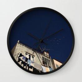Birds and antenna Wall Clock