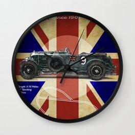 Brooklands Racetrack Vintage Wall Clock