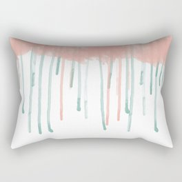 Watercolour rain Rectangular Pillow
