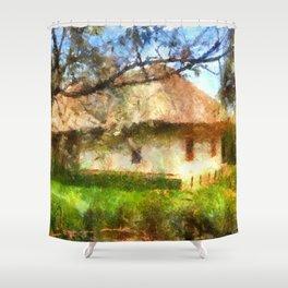 old Ukrainian house  Shower Curtain